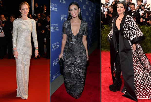 EMILY BLUNT, DEMI MOORE E LADY GAGA (Foto: Getty Images)