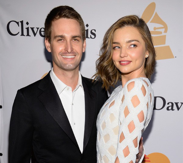 Miranda Kerr e Evan Spiegel (Foto: Getty Images)